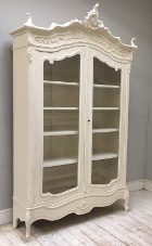 french antique rococo armoire / display