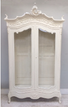 FRENCH ANTIQUE GLAZED DISPLAY / ARMOIRE