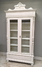 french antique glazed display cabinet / armoire