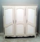 vintage french 3 door louis xv style armoire
