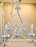 french antique 4 branch iron chandelier