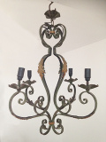 french antique 5 branch chandelier