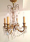 old french brass and crystal chandelier