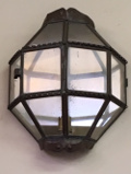 old french iron porch light