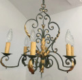 french antique iron light