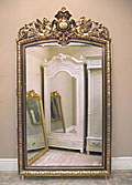 wonderful large antique french mirror