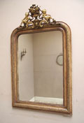 french antique louis philippe mirror with cherubs