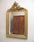 SMALL GILDED FRENCH MIRROR