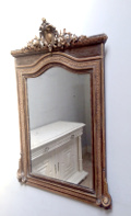 french antique crested mirror