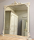 late victorian painted overmantle mirror