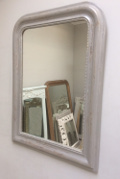 french antique louis philippe silvered large mirror
