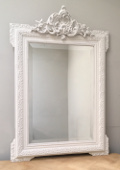 french antqiue crested mirror