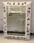 french antique carved wooden mirror