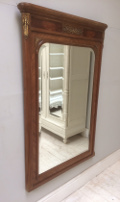 french antique empire style mirror with ormalu brass mounts