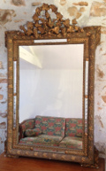 french antique ventetian glass mirror - birds