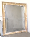 french antique foxed mirror
