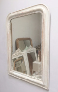french antique distressed painted mirror