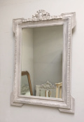 Old French Carved Mirror with Bow