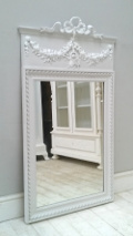french antique trumeau mirror with bow