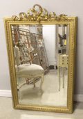 french antique louis xvi mirror with bow