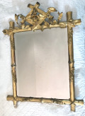 french antique small gilded marriage mirror