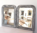 pair of french antique louis philippe style mirrors