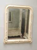FRENCH ANTIQUE PAINTED MIRROR